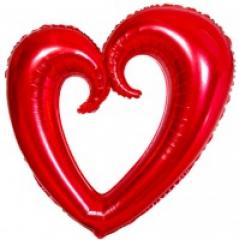 Сердце вензель 102 см
