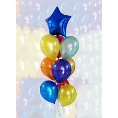 Букет шаров со звездой