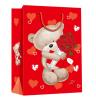Пакет подарочный Мишка с букетом