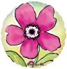 Круг Нарисованный розовый цветок