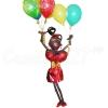 Негритянка с шарами