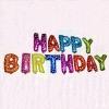 Надпись HAPPY BIRTHDAY из фольгированных шаров