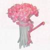 Розовая пантера с букетом
